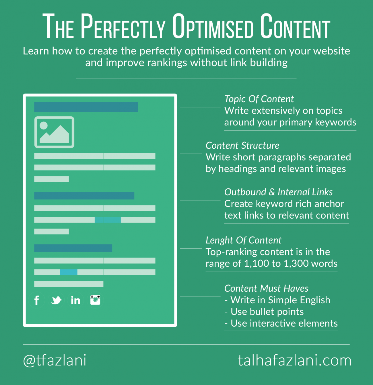 Creating the perfectly optimised content
